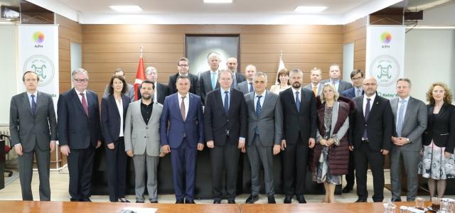 AB Delegasyonu Başkan Savaş'ı Ziyaret Etti