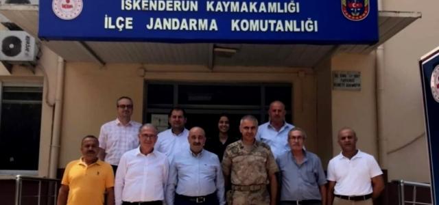 Altın Adamlardan Jandarma Komutanı Yıldırım'a Ziyaret