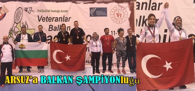 Arsuz'a Balkan Şampiyonluğu
