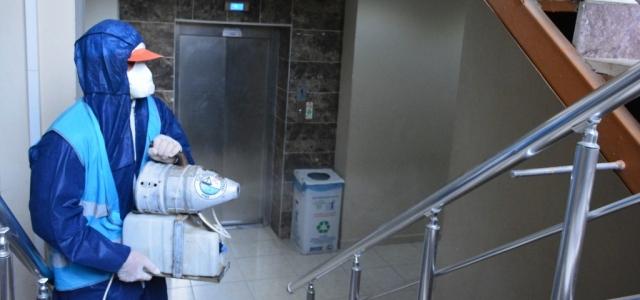 Arsuz'da Koronavirüs İlaçlaması