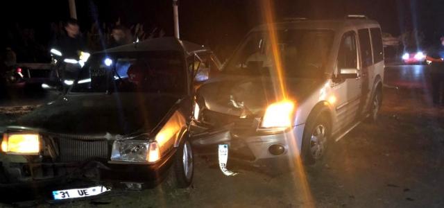 Arsuz'da Trafik Kazası