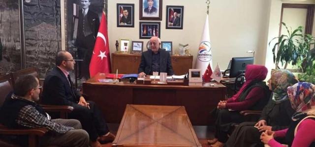 Başkan Seyfi Dingil Konuklarını Makamında Ağırladı
