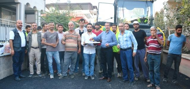 Sarımazı'da Asfalt Çalışmaları Hızlandı
