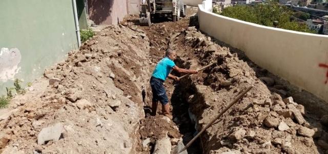 Belen'de Çöken Kanal Hattına Anında Müdahale