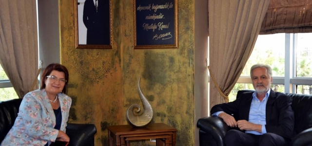 CHP Hatay Milletvekili Suzan Şahin İTSO'yu Ziyaret Etti