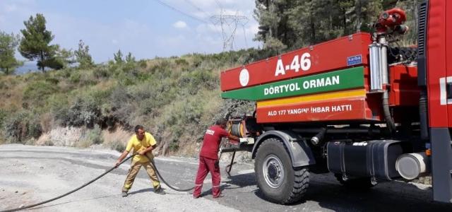 Dörtyol'da Orman Yangını Kontrol Altında