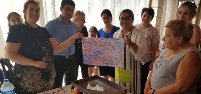 Ebru Sanatı Kursuna Yoğun İlgi