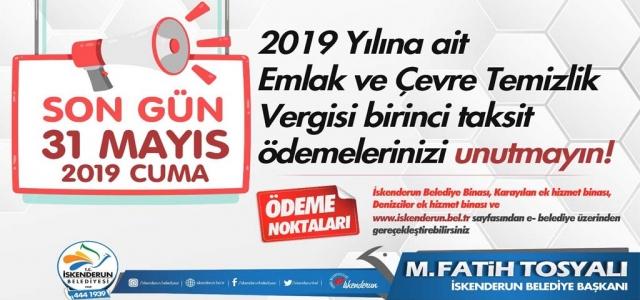 Emlak Ve ÇTV Ödemelerinde Son Gün 31 Mayıs