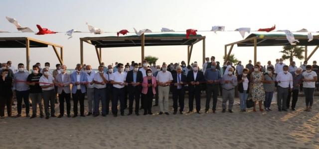 Erzin Burnaz Plajı Ziyaretçilerini Bekliyor