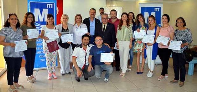 Girişimcilik Kursuna katılanlar belgelerini aldı