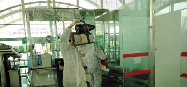 Hatay Havaalanı'nda Dezenfeksiyon Çalışması