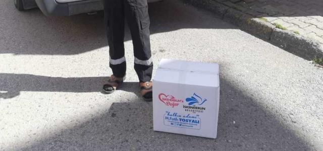 İskenderun Belediyesi'nin Gıda Yardımları Sürüyor