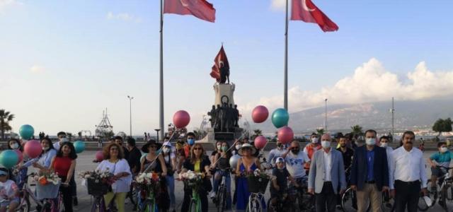 İskenderun'da Dünya Bisiklet Günü Etkinliği