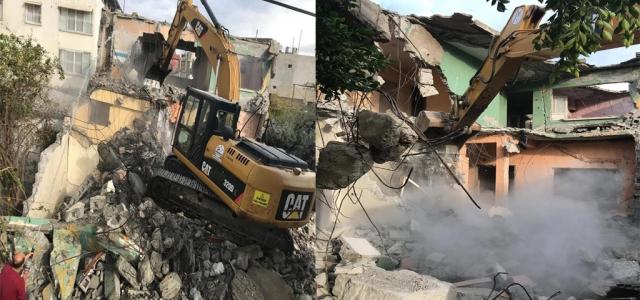 İskenderun'da Metruk Binalar Tek Tek Yıkılıyor