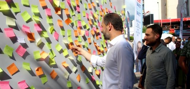 İskenderun'da Milletvekillerine İlginç Notlar