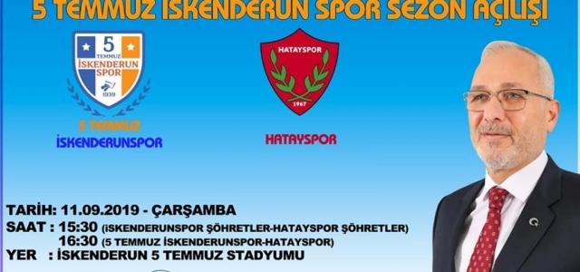 İskenderunspor, Hatay Spor'la Sezonu Açıyor
