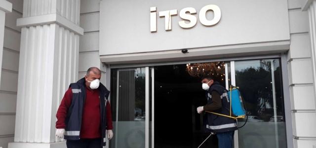 İTSO'da Dezenfekte Çalışması