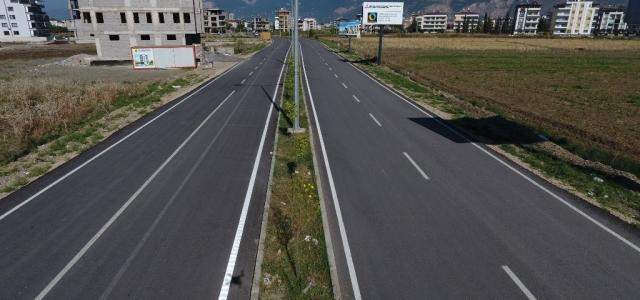 Karaağaç'ta Yeni Yolun Asfaltı Tamamlandı