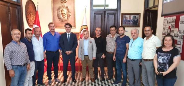 Kaymakam Aydın Gazeteci Dostlarıyla Vedalaştı