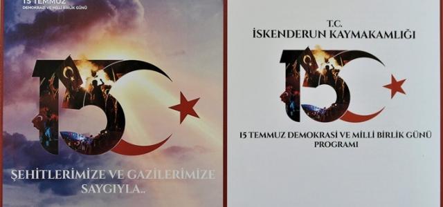 Kaymakam Yönden'in '15 Temmuz Demokrasi ve Milli Birlik Günü' Mesajı
