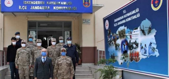 Kaymakamdan Jandarma Komutanlığına Ziyaret