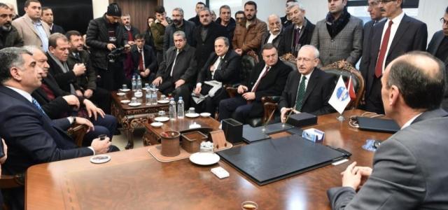 Kılıçdaroğlu ve Beraberindeki Heyet Elazığ'da