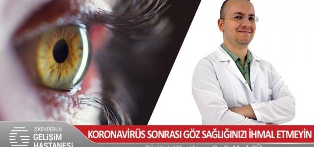 Koronavirüs Sonrası Göz Sağlığınızı İhmal Etmeyin