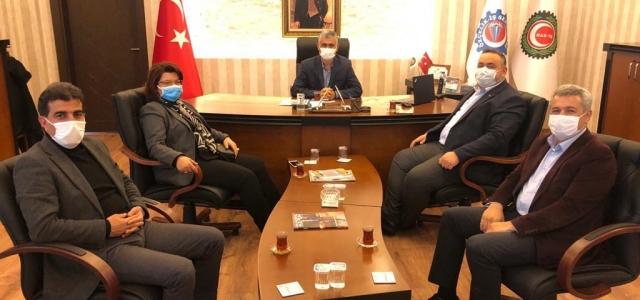 Milletvekili Şahin'den, ÖZÇELİK-İŞ Sendikasına Ziyaret