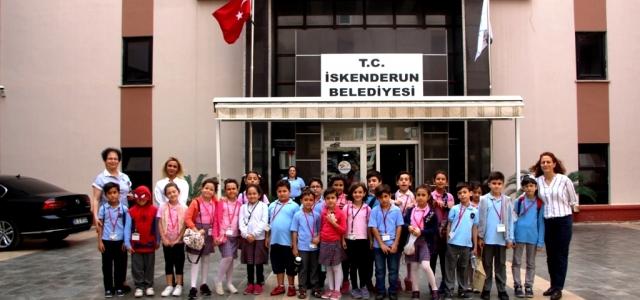 Minik Öğrenciler İskenderun Belediyesini Gezdi