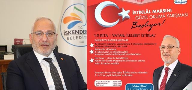 Ödüllü İstiklal Marşını Güzel Okuma Yarışması