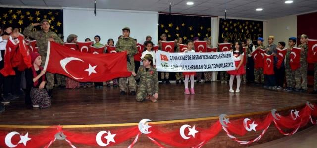 Öğrenciler Çanakkale Ruhu ile gönülleri coşturdu