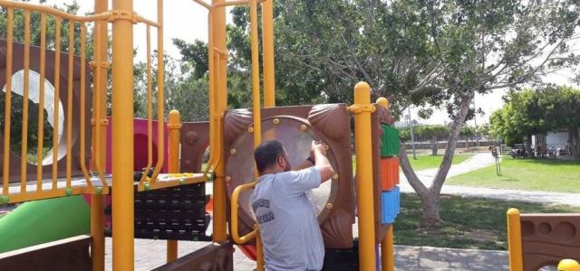 'Oyun Parklarına Periyodik Bakım Yapılıyor'