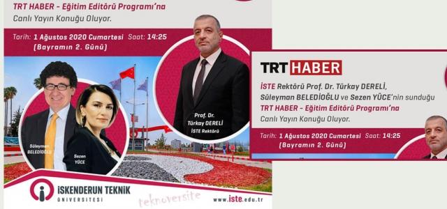Rektör Dereli TRT Haber'e Konuk Olacak