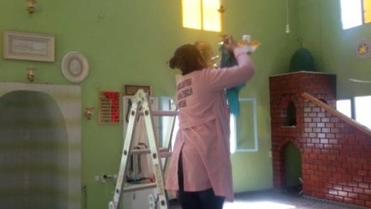 Reyhanlı Belediyesi Camileri Temizliyor