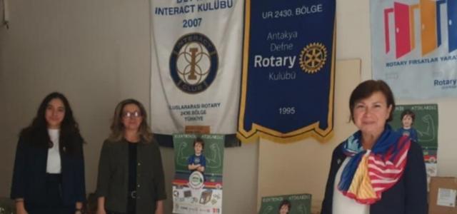 Rotary'den 'Atma Bağışla' Projesiyle Eğitime Destek