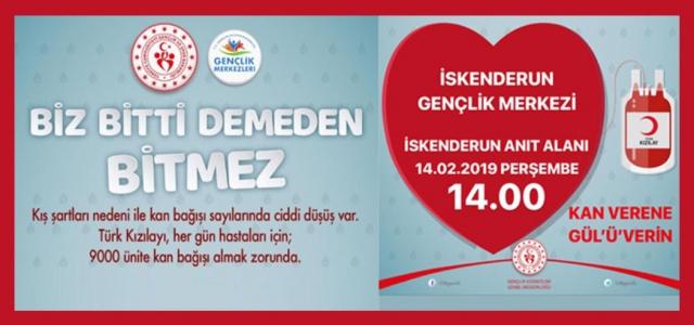 Sevgililer Günü'nde Kan Bağışı Kampanyası