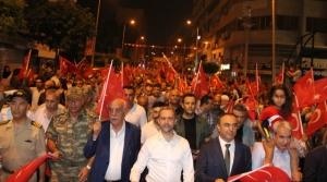 İskenderun'da Binler Vatan için Yürüdü