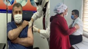 İskenderun'da İlk Covid-19 Aşısı Yapıldı