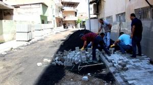 İskenderun'da Yol ve Kaldırım Çalışması