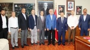 MHP Adayı İbrahim Gül'den Seyfi Başkana Ziyaret