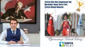 Simya'lı Türk, Kick Boksta Türkiye İkincisi