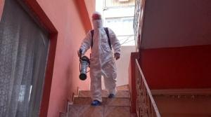 Virüs Vakalarının Olduğu Binalar Dezenfekte Ediliyor