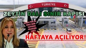 Zeytin Dalı Sınır Kapısı Haftaya Açılıyor