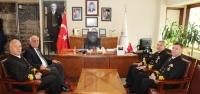 Batı Görev Grup Komutanından Seyfi Başkan'a  Ziyaret