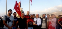 İskenderun ve Arsuz'da Motosikletle 'Zafer Turu'