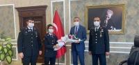 Jandarma Teşkilatından Kaymakam Sarı'ya Ziyaret