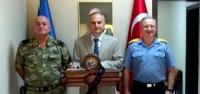 Kaymakam Yönden'den Albay Balkış'a Ziyaret