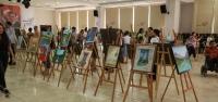 Resim Ve Sanat Atölyesi Kursiyerleri Yeteneklerini Sergiledi
