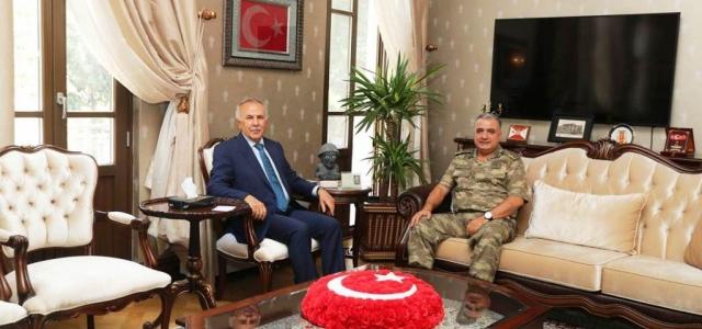 Tuğgeneral  Şener'den  Vali  Ata'ya  Ziyaret