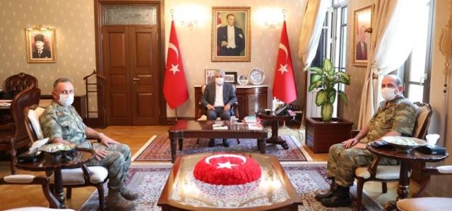 Tümgeneral Ergün, Vali Doğan'a Konuk Oldu